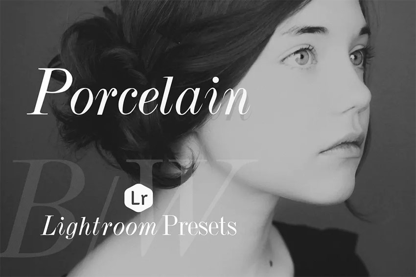 Porcelain BW Lightroom preset