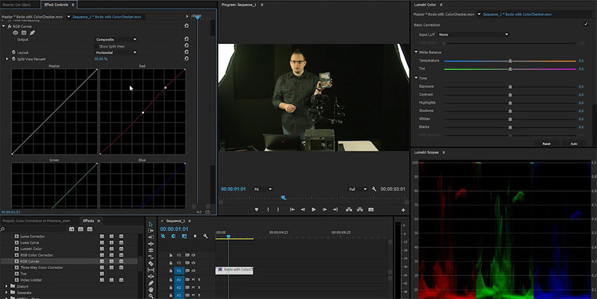 Adobe Premiere Color Correction Tools