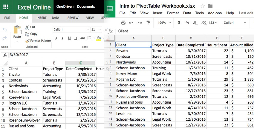 Excel to Sheets