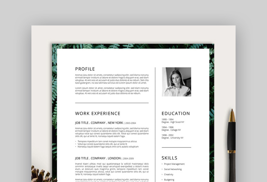 Ferns Creative Resume Template