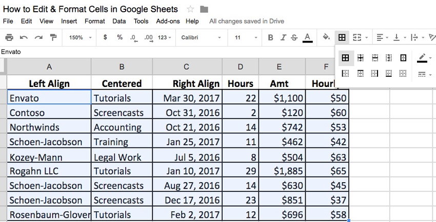 How to Edit & Format Cells in Google Sheets Spreadsheets