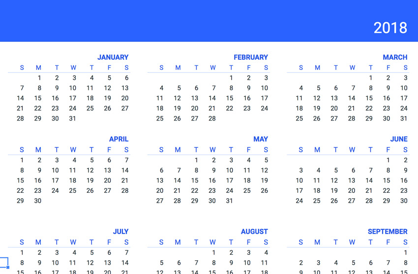 Year Calendar Google Sheets : Free google sheets business templates to use in