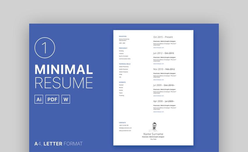 20 Plantillas de Curriculum Vitae Simple (Fáciles de Personalizar ...