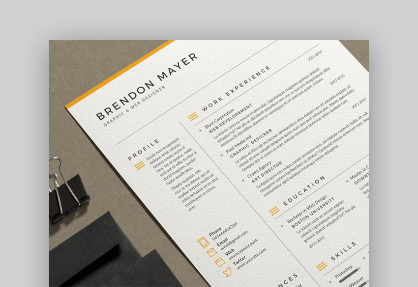 20 Simple Resume Templates Easy to Customize Edit Quickly