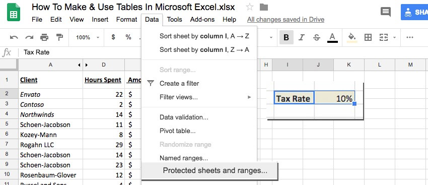 How to Protect Sheets & Lock Cells in Google Sheets