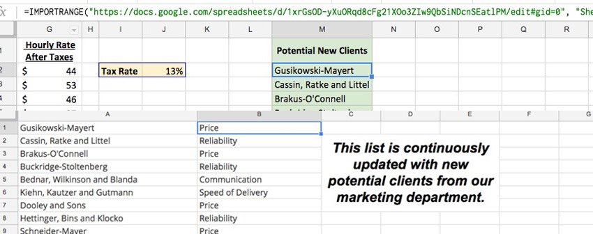 How to Link Spreadsheets & Share Data in Google Sheets