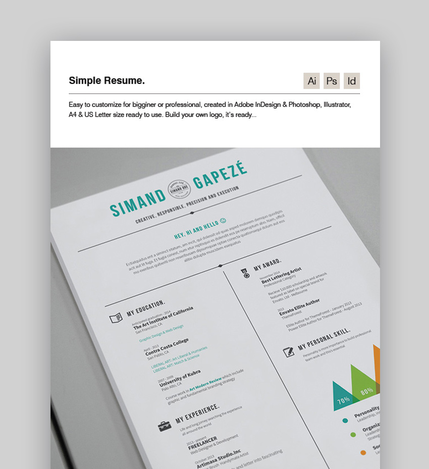 20 Best Job Resume Templates With Simple Designs 2018