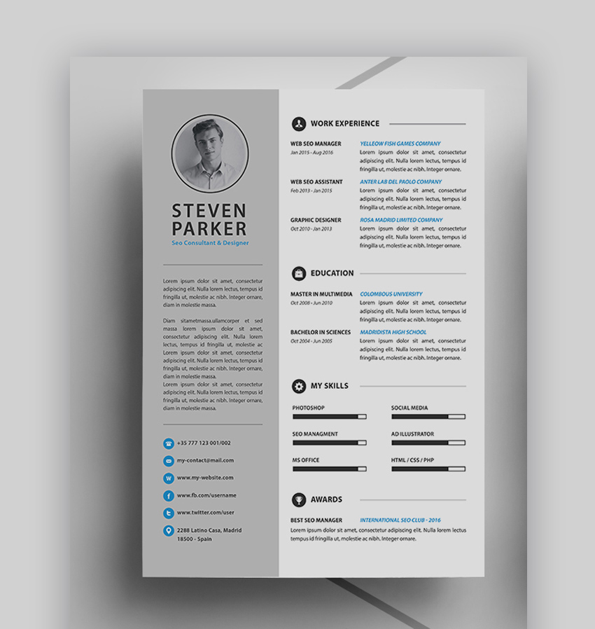 20 Best Job Resume Templates With Simple Designs (2018