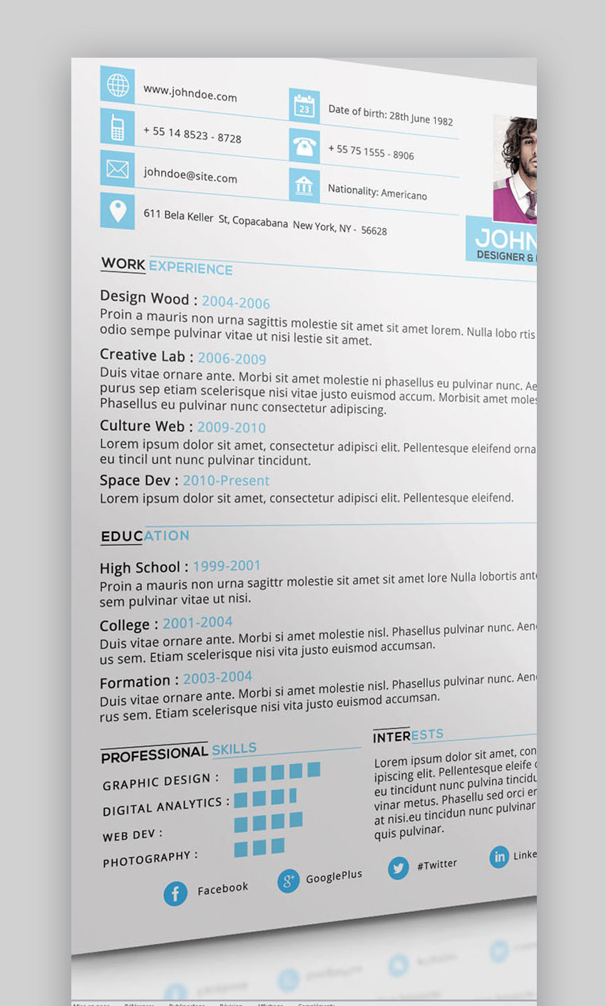 20 Best Job Resume Templates With Simple Designs (2018)