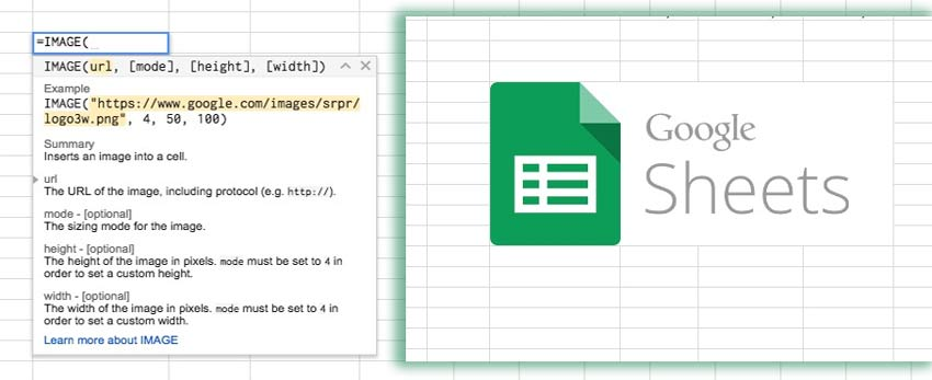 How to use IMAGE in Google Sheets