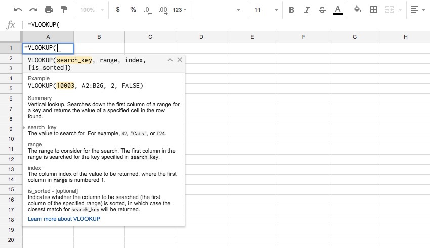 Formula showing in VLOOKUP