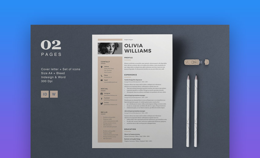 Olivia - Creative Professional Colors for Resume