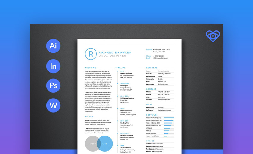 Clean Standout Resume Templates
