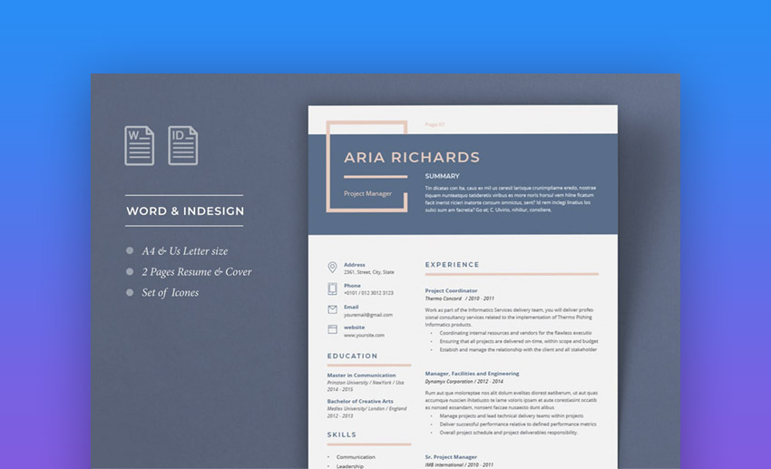 Resume Aria - Professional Colors For Resume