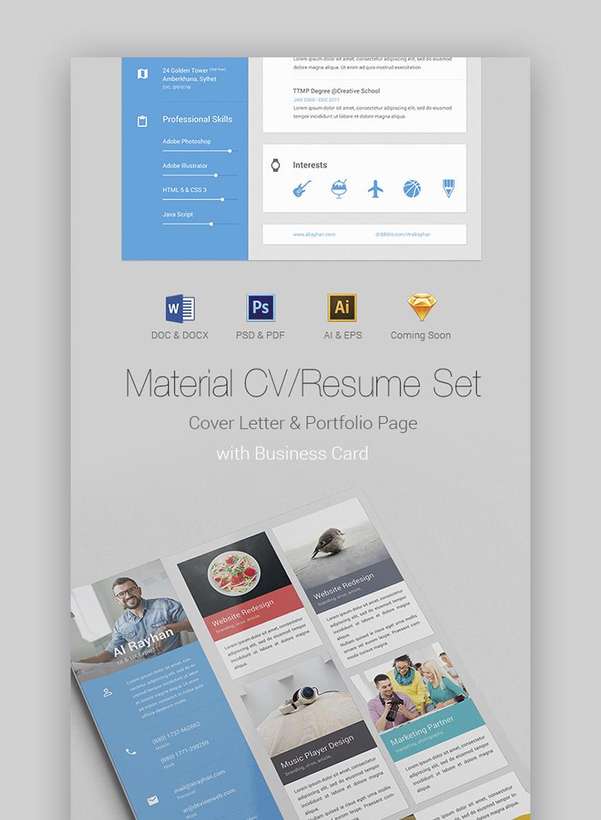 Material Design Resume Set