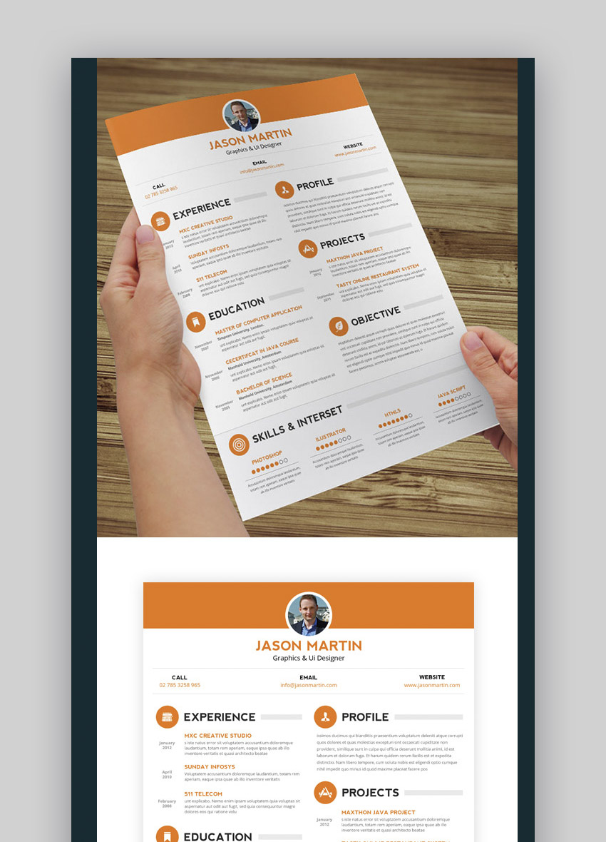 20 cool  u0026 colorful resume templates  to stand out