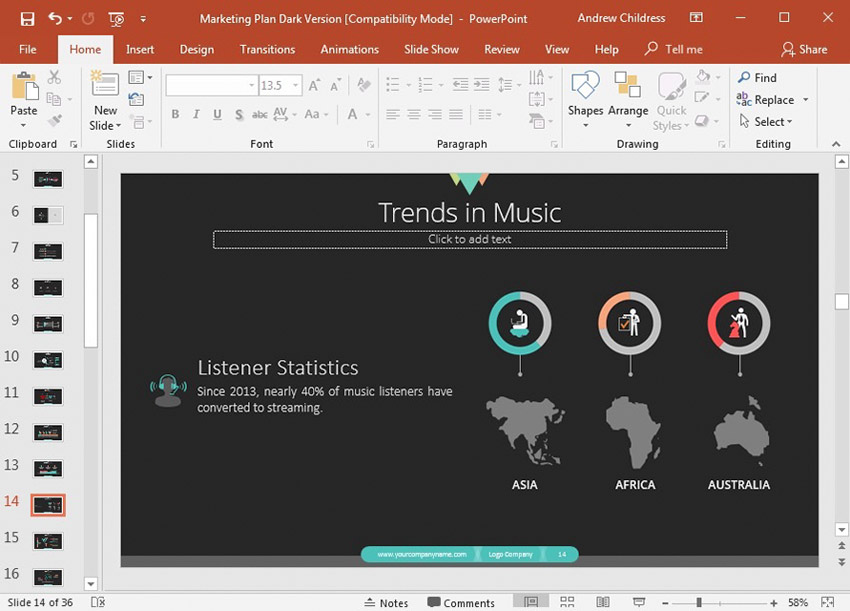 Less Content on PowerPoint slide
