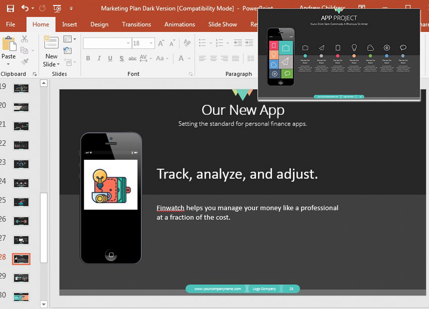 PowerPoint Template Updated