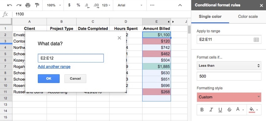 How to Use Conditional Formatting in Google Sheets