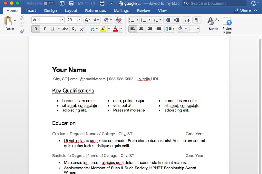 15 free google docs  u0026 microsoft word resume templates  2018
