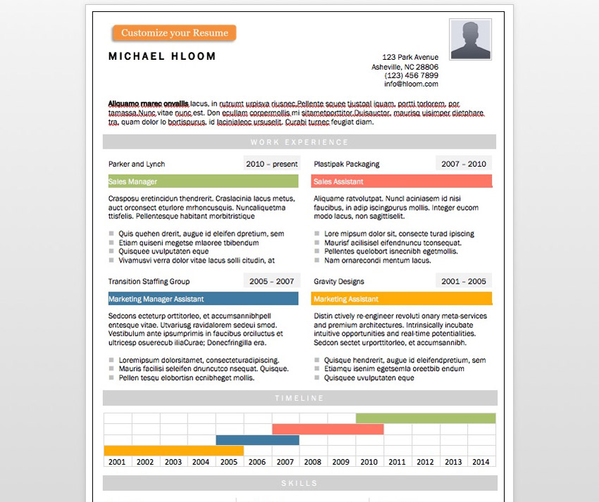24 Free Google Docs & Microsoft Word Resume CV Templates
