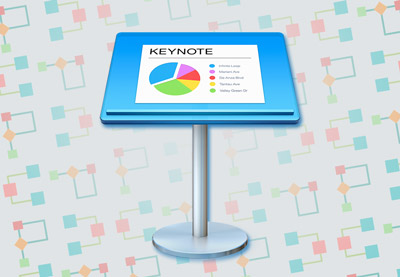 Keynote flowchart gantt icon