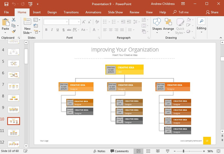 How To Create Organizational Charts In Powerpoint With Ppt Templates