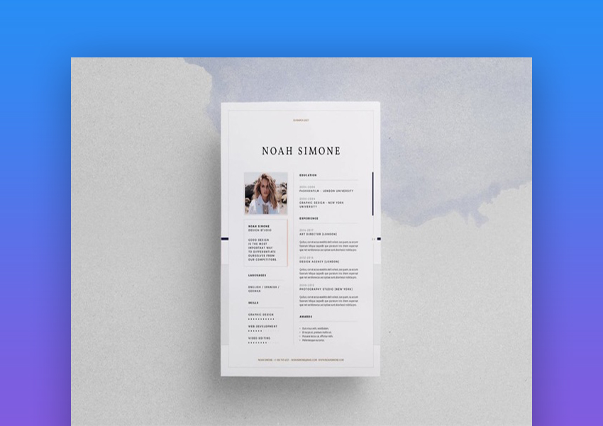 25 top one page resume templates with simple to use examples