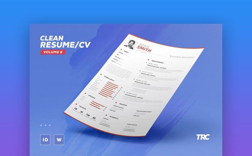 Clean Resume CV Volume 8