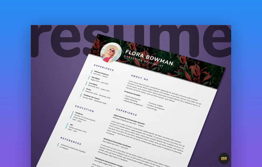 Single Page Resume CV And Cover Letter