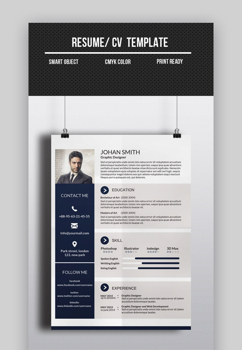 25 Top One Page Resume Templates Simple To Use Format