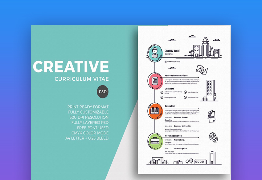 20 free creative resume templates  word  u0026 psd downloads
