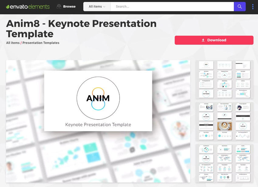 Anim8 Keynote Template