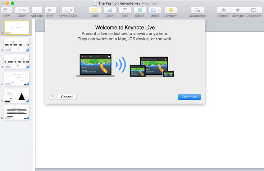 How to Use Apple Keynote Live to Stream Presentations on the Web