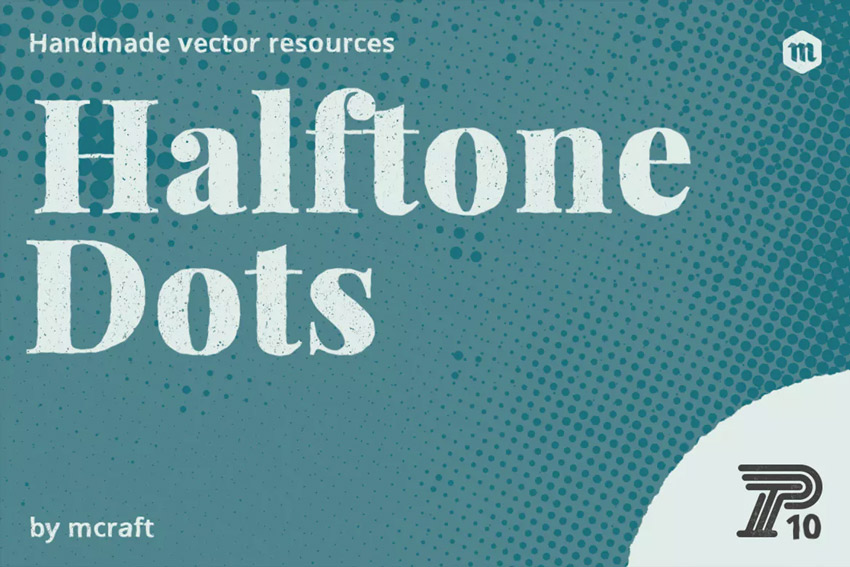 Halftone Dots Texture Pack 10