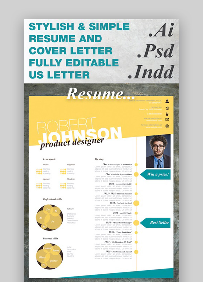 Stylish One Page CV Resume
