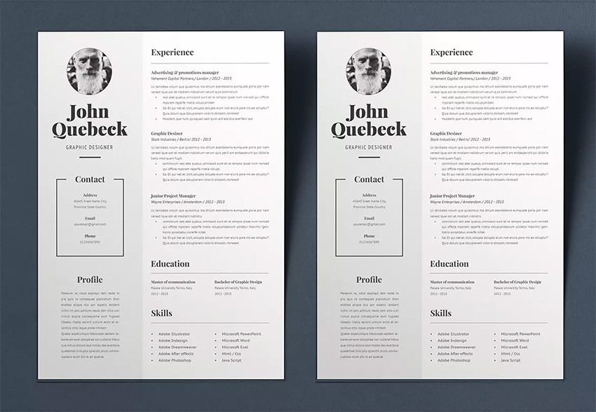 Best in 2019: 25 Professional Resume Design Templates (Cool + Modern)