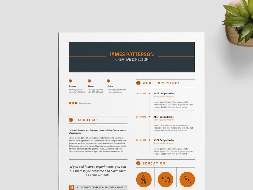 Creative InDesign Resume