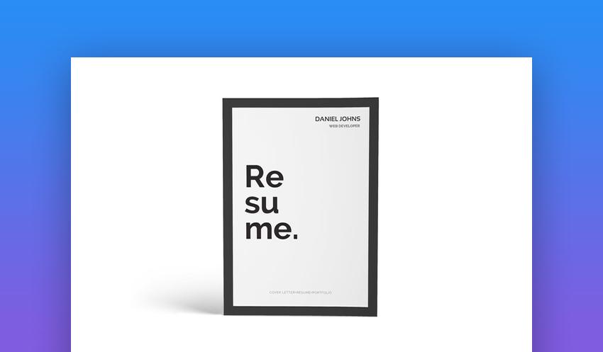 CV Resume portfolio