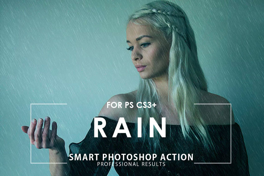 2 Rain Photoshop Action