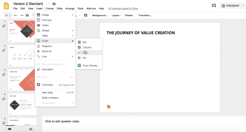 How to Make a Line Graph in Google Slides in 60 Seconds