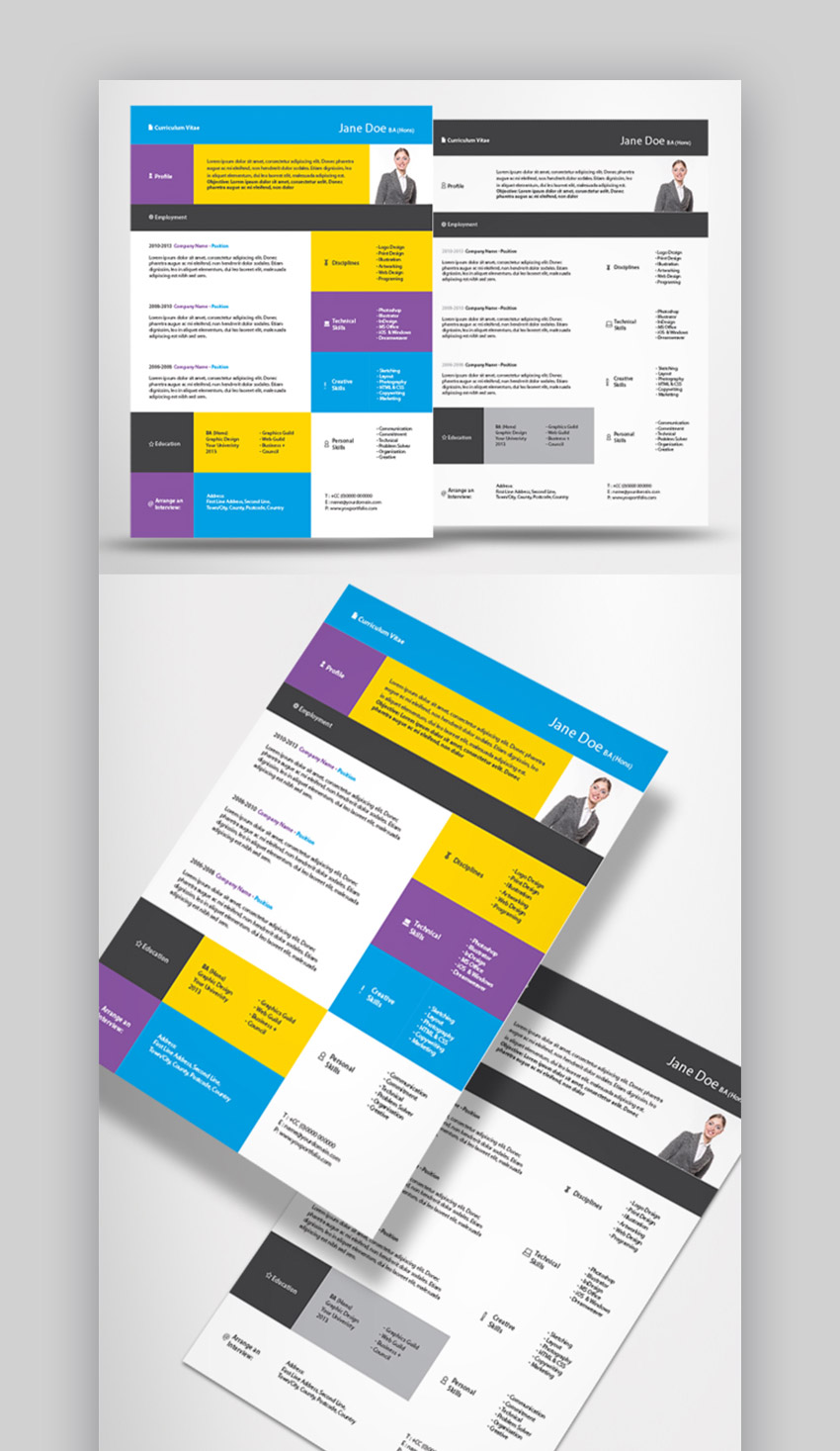19 Best Web & Graphic Designer Resume Templates for 2019