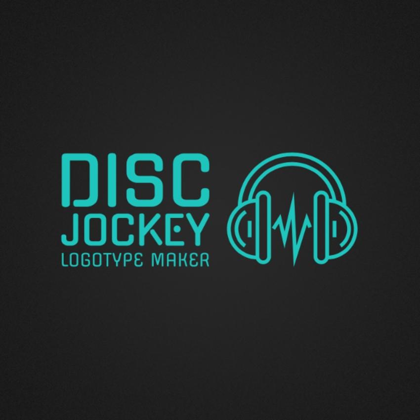 DJ Logo Maker with Headphone Icon