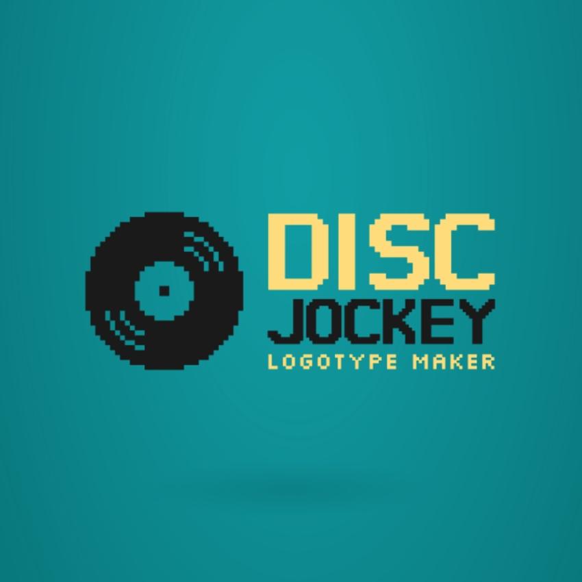 DJ Logo Maker with Vinyl Icon