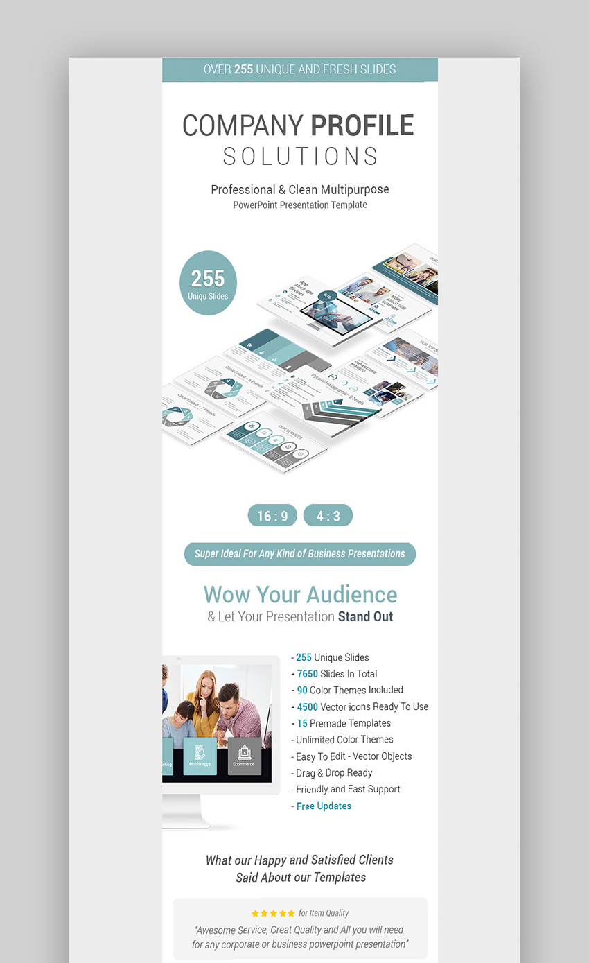 Stunning Company Profile PowerPoint Presentation Design
