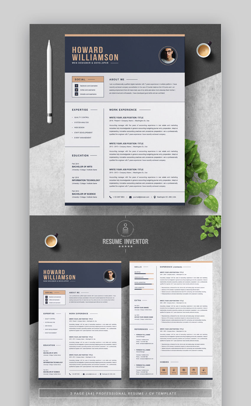 29 Best Contemporary Resume Cv Templates New Modern Styles For 2020