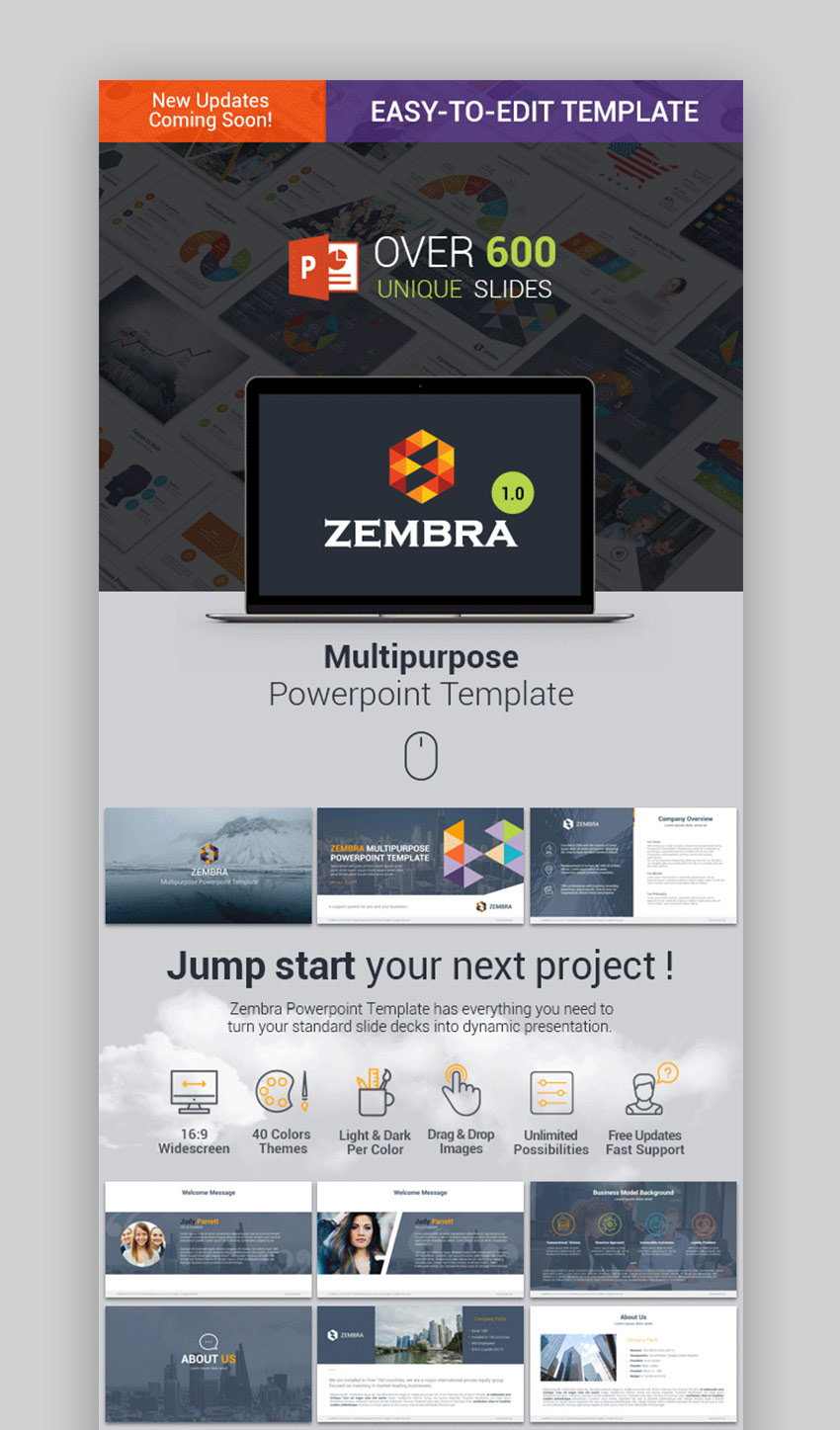25+ Best Free Professional Business PowerPoint Design Templates