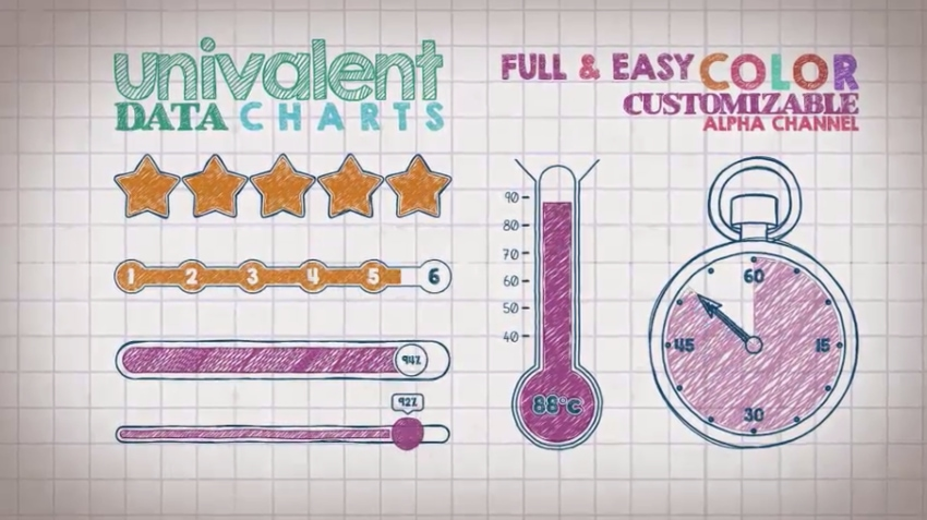 Infographic template for Adobe After Effects
