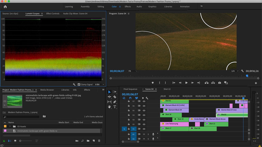 Adobe Premiere Interface