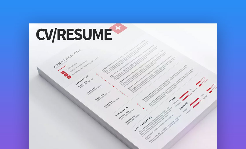 CV Resume Clean and Bold